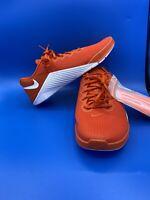 NEW Nike Metcon 5 Training Shoes Orange White Men's Size 12 AQ1189-891