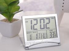 Multifunction Digital LCD Alarm Clock Snooze Calendar Thermometer Temp Tiempo