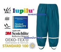 Kids Waterproof Trousers Children Outdoor Overtrousers With Fleece Lined Trouser