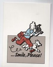 Carte Postale Tintin ...Smile, Please. carte bleue pour la campagne KODAK 1992