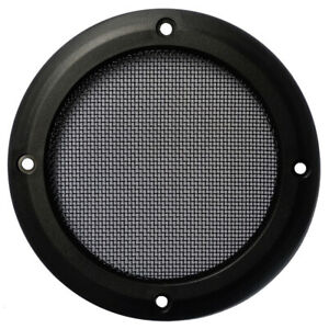 """4"""" inch Car Audio Speaker Cover Decorative Round Metal Mesh Grille, Lot of 2"""