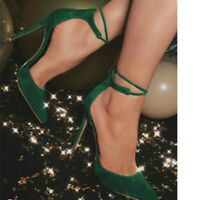 Women's Lace Up Peep Toe Super High Heels Causal Cocktail Party Sandals Shoes