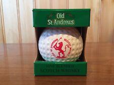 Vintage Old St. Andrews Scotch Whiskey Golf Ball Decanter Bottle Original Box
