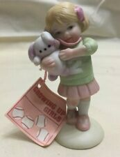 1983 Enesco Growing Up Girls Birthday Jersey #2 Figurine #E-4102 New Old Stock