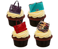 Handbags - Novelty Edible Cupcake Toppers, Stand-up Fairy Cake Decorations Girl