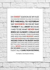 Foo Fighters - Something From Nothing - Song Lyric Art Poster - A4 Size