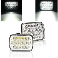 Pair H6054 7x6 LED Headlight Sealed Beam For Pickup Truck Square Headlamp