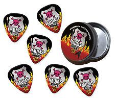 Roca madre Mamá Mums 6 X Guitar Picks púas en estaño (R1)