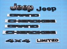 6pcs 2014-2020 Jeep Grand Cherokee Black Front Rear Nameplate Emblem Set Limited