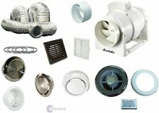 Timer Inline Powerful Extractor Shower Bathroom Fan Light Kit 220 330 530m3/hr