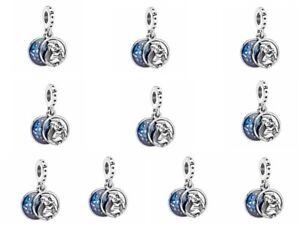 10pcs European Silver Charm Bead For Bracelet Necklace Pendants Chain