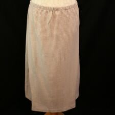 Ladies Skirt 12/14 Carr Westley Brown White Dogstooth A-Line Elasticated Waist