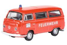 Volkswagen Bus T2 1972 Art Du Feu N° 452800800, Schuco H0 Modèle 1:87