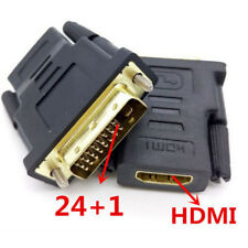 Black 3DVI Male to HDMI Female Adapter Gold Plated Converter For HDTV TV DateBQ1