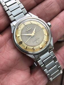 Vintage 1957 2852 waffle dial Constellation cal 501 chronometer with GF bracelet