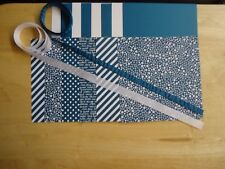 "Stampin Up DAPPER DENIM 6 X 6"" Designer Paper Card Kit Ribbon"