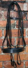 """HERITAGE 100% ENGLISH MADE COB SIZE SNAFFLE,SHOW,HUNTER BRIDLE BROWN 1.25"""" NOSE"""