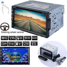 """7"""" Touchscreen Car DVD Player USB/SD/MP3/CD Bluetooth FM AUX-in Radio Double DIN"""