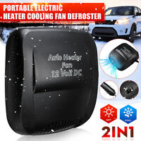 12V DC 150W Car Portable Electric Heater Heating Cooling Fan Defroster Demister