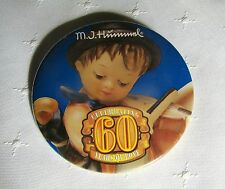 M.I. Hummel CELEBRATING 60 YEARS OF LOVE Promotion Collectors PIN PINBACK BUTTON