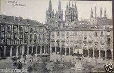 POSTAL PLAZA MAYOR BURGOS HAUSER Y MENET CASTILLA Y LEON POSTCARD        CC03021