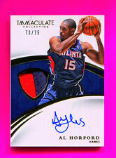 2014-15 Immaculate Collection Patches Autograph Al Horford Hawks Celtics 73 /75
