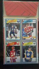 1988-89 OPC Box Bottom Hockey Cards, Gartner, Robitaile, Andrechuck, Loob, NrMt