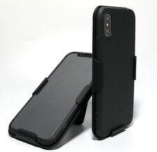 360 FULL BODY BLACK SLIM ARMOR CASE with BELT CLIP HOLSTER iPhone X iPhone 10