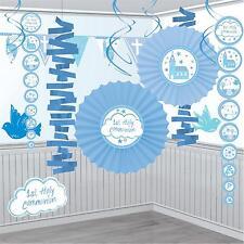 Blue Holy Communion Church Room Decorating Kit - 18 Piece