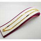 Women 22K 23K 24K Thai Yellow Gold GP Necklace 17 inch 6 Grams Jewelry