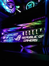 More details for asus rog design gpu support bracket - 5v argb (3 pin) - new - suit nvidia amd