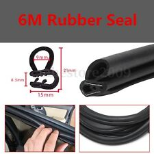 20FT B Style Black Trunk Edge Lock Rubber Weather Strip Seal Trim Sound Control