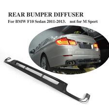 Fit for BMW F10 Sedan 5-Series 528i 535i 550i Rear Bumper Diffuser Carbon Fiber