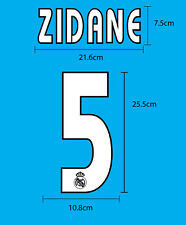 Real Madrid CF Away 2003-05 SOCCER FOOTBALL NAME NUMBER PU PRINT