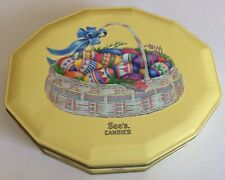Vintage Sees's Candy Easter Eggs Tin Metal Box 1 lb.