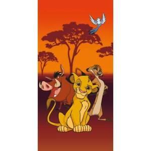 Lion King Beach Towel Disney Character Kids Swimming Holiday Microfibre