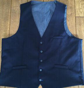 New Men's House Of Cavani Navy Waistcoat Size 46 R £24.99  OrBest Off RRP £50