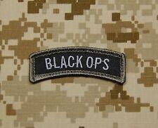 BLACK OPS Tab Patch SWAT US Army Morale Patch Afghanistan Hook & Loop