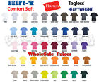 Hanes Men's Short Sleeve T-Shirts - Small to 6XL - Beefy HeavyWeight Tagless