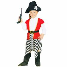 Caribbean Pirates Girls Toddlers Halloween Fancy Dress Costume One Size Age 3-7