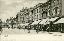PRINTED POSTCARD OF SAVILLE STREET, HULL, EAST YORKSHIRE BY WRENCH