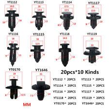 200pcs Black Plastic Mixed Size Vehicle Car Bumper Clips Retainer Rivet Fastener