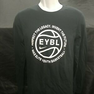 Nike Nationals EYBL Black (with White) Long Sleeve Shirt **BRAND NEW**-XL