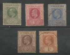 Isole Cayman 1901-5 Set di 5 (il 1D è colmo stradale CA) resto molt. CROWN C. £ 110 +