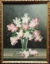 Altes Ölbild Blumenstilleben Franz Stoitzner 1898 -