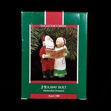 Hallmark Keepsake Ornament Holiday Duet Christmas Ornament 4th in series 1989