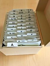 SET OF 160  LETTER & PICTURE CARDS / ON CARDDOARD AND ALL LAMINATED ABRAMS & CO.