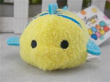 "Disney Store The Little Mermaid:Ariel's Flounder Tsum Tsum 3.5"" Mini Plush Doll"