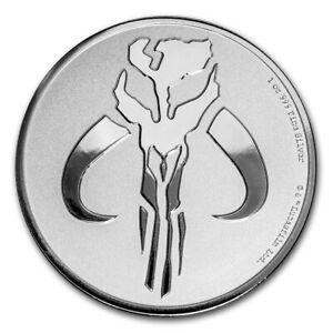 2020 Niue 1 oz Silver $2 Star Wars Mandalorian Mythosaur Coin in Plastic Capsule