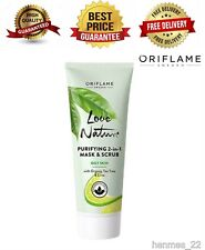 ORIFLAME Love Nature Purifying 2-in-1 Mask & Scrub with Organic Tea Tree & Lime